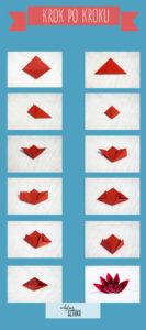 gwiazda betlejemska bukiet origami