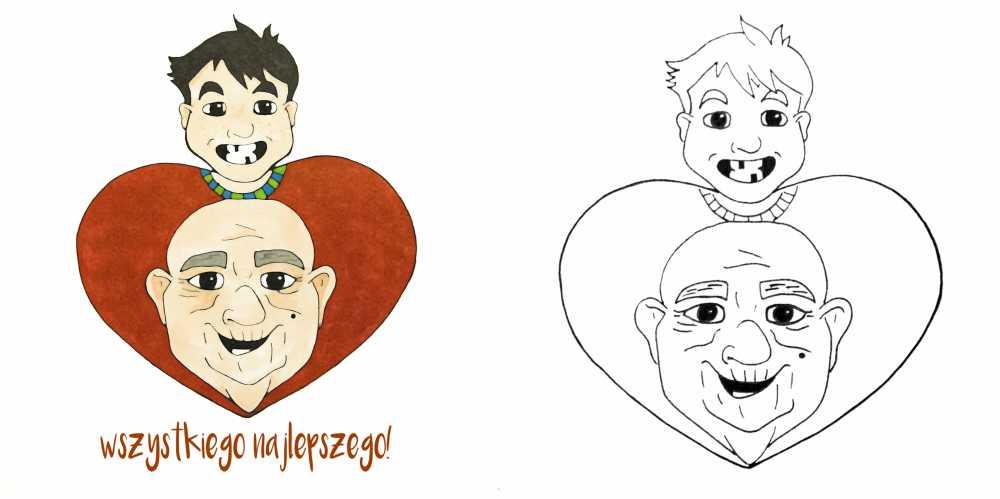 ilustracje dla dziadków
