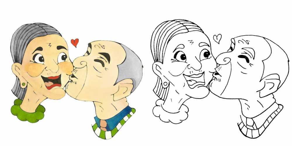 Ilustracje I Kolorowanki Z Historia Dzien Babci I Dziadka