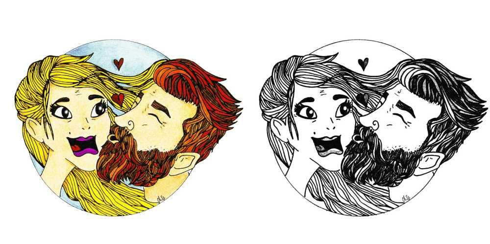 miłość ilustracje