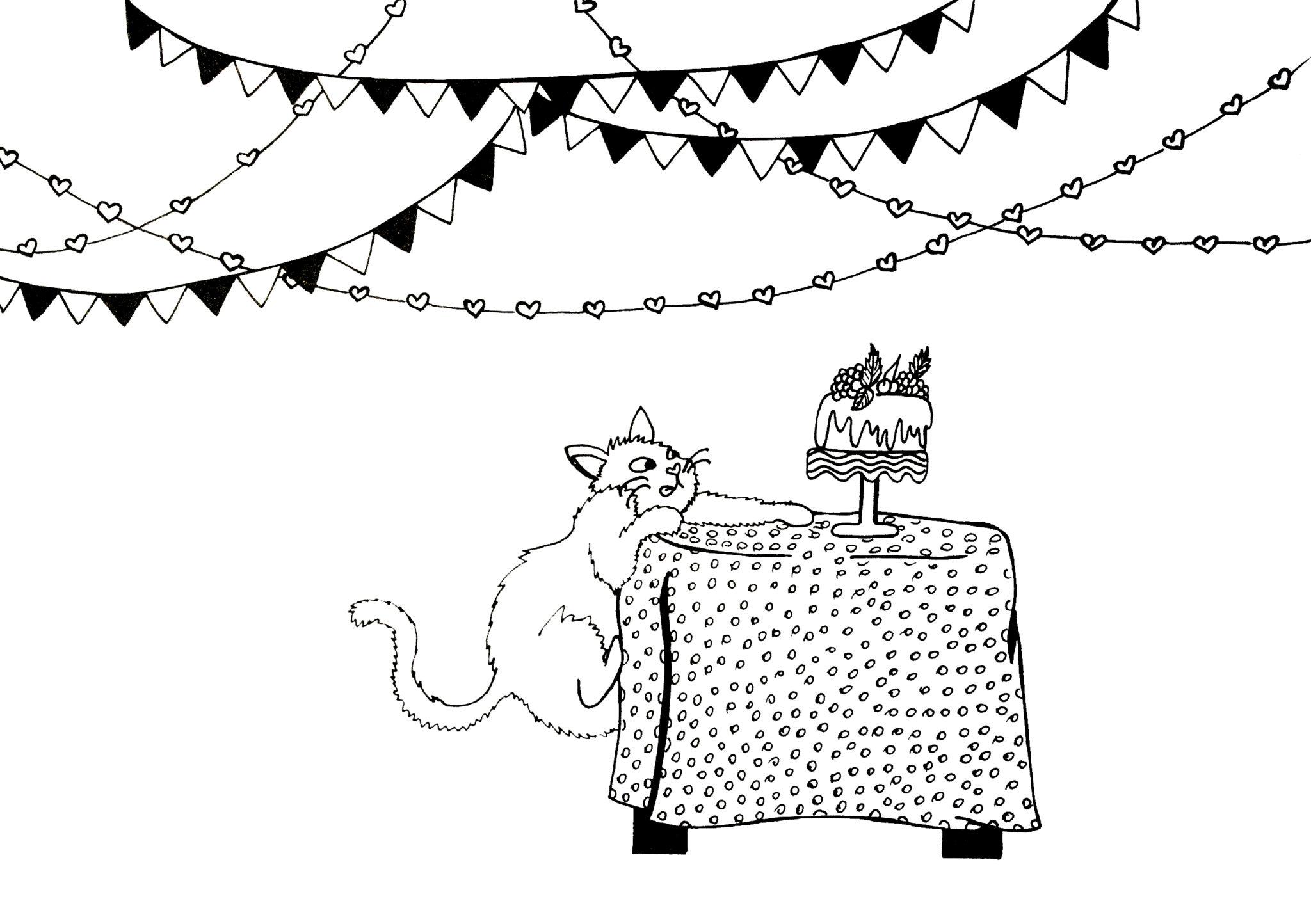 dzień kota kolorowanka
