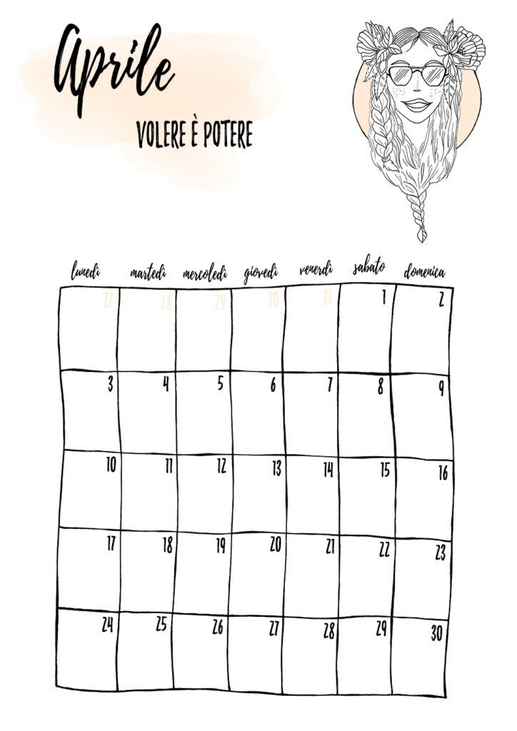 kwietniowy planner miesięczny
