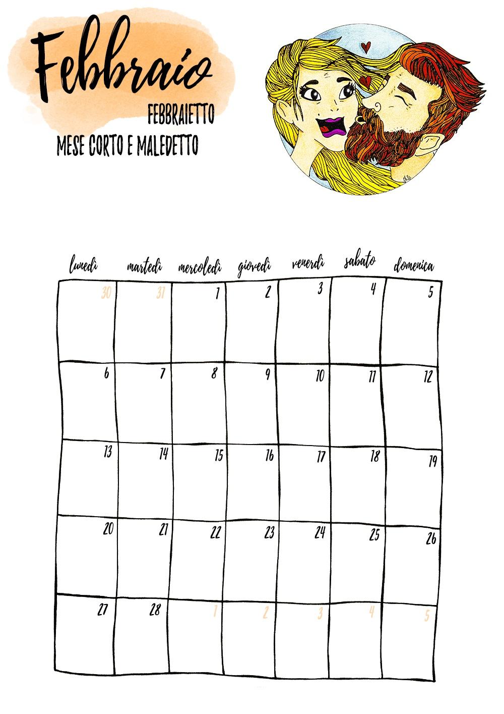 włoski planner miesiąc