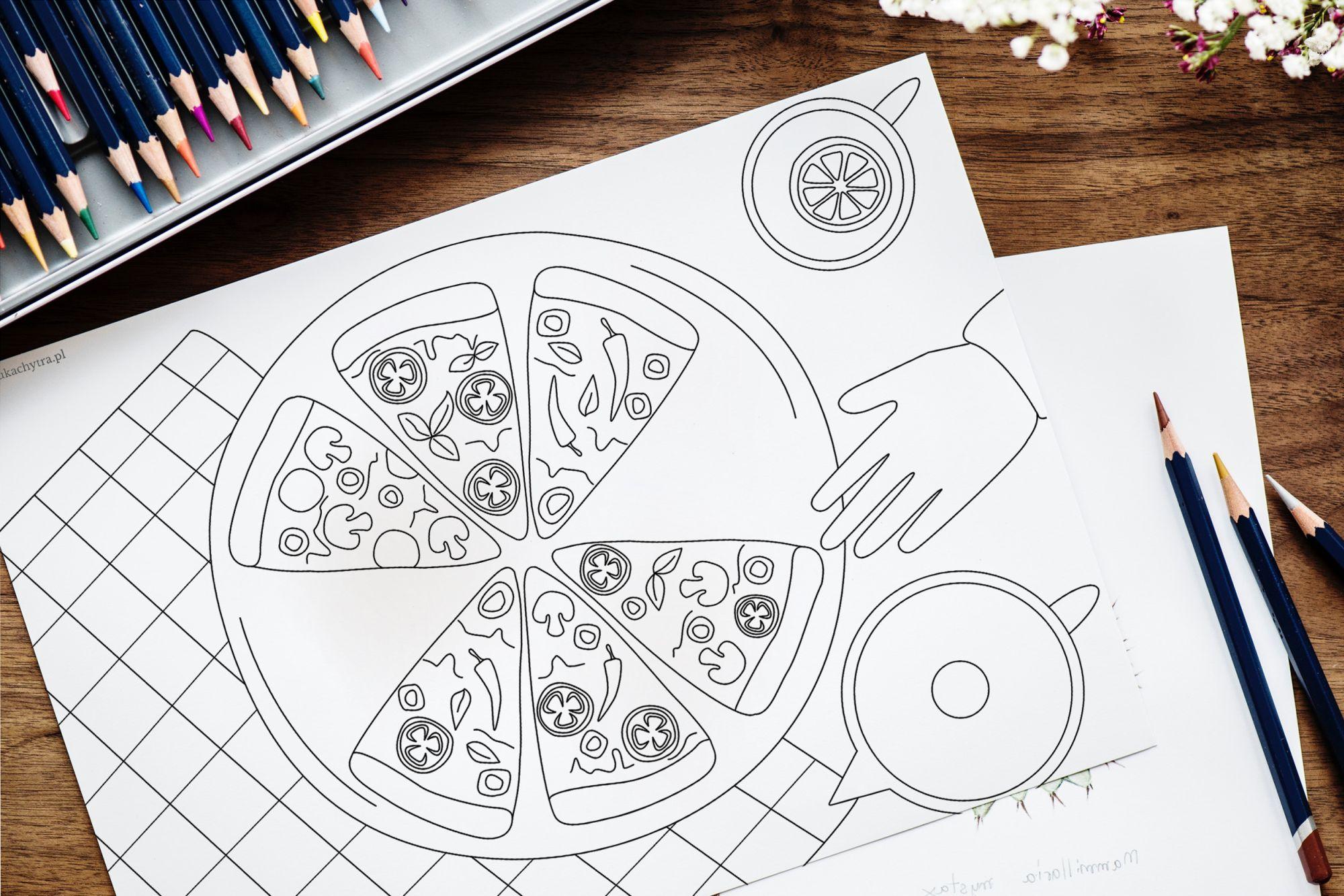 dzień pizzy kolorowanka